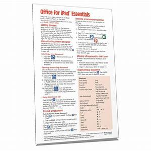 Office For Ipad Quick Reference Guide Instructions Card