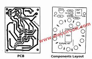 Pcb And Components Layout Of