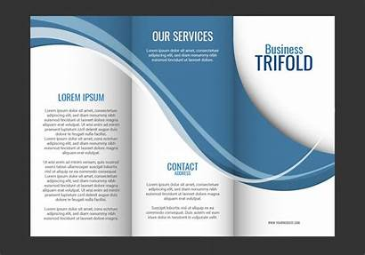 Brochure Template Trifold Wave Graphics