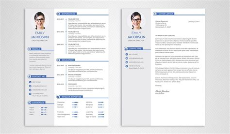 Stylish Cv Template Free by Free Cv Template And Cover Letter Graphicadi