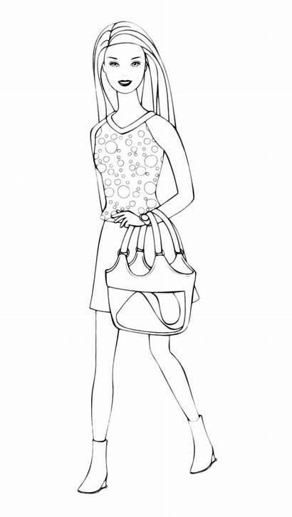 Barbie Shopping Bag Goes Borsa Pages2color Coloradisegni