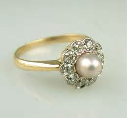 antique wedding ring vintage pearl wedding rings but chic ipunya