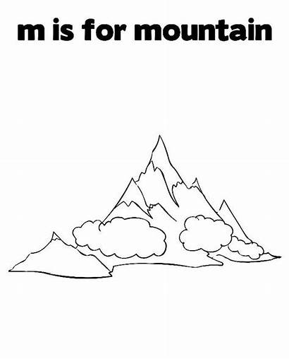 Mountain Printable Coloring Pages Mountains Everest Mount