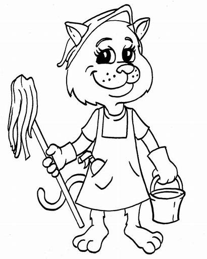 Coloring Pages Tools Cleaning Clean Printable Cleanitsupply