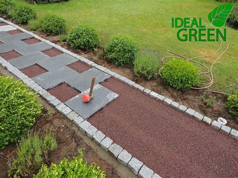 granitplatten garten gartenweg aus granitplatten ideal green