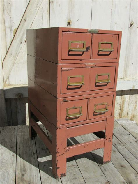 side table file cabinet vintage industrial metal file cabinet storage bin