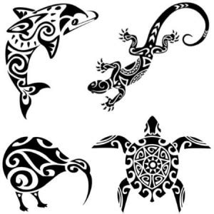 maori tattoos turtle kiwi gecko dolphin vaiana