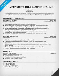 Government jobs resume example resumecompanioncom for Free government resume templates