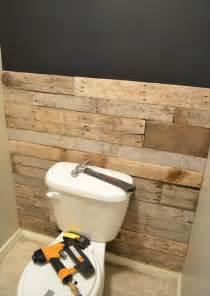 diy bathroom ideas diy tutorial pallet bathroom wall 99 pallets
