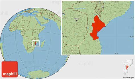 savanna style location map  sofala
