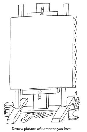 easel coloring page activities  kids coloriage art
