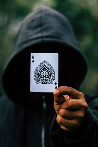black ace card  mobile wallpaper