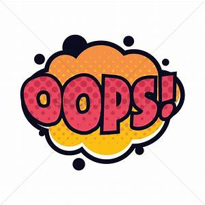 Oops text with comic effect Vector Image - 1822968 ...