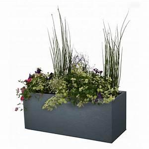 Bac A Fleur Plastique Rectangulaire : bac fleurs rectangulaire 98 litres jardin et saisons ~ Edinachiropracticcenter.com Idées de Décoration