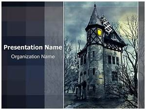Access Templates 2007 Haunted House Powerpoint Template Background