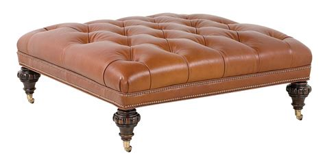 square ottoman with casters large square traditional tufted leather ottoman club