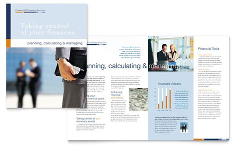 financial planning consulting brochure template word