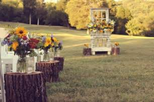 outdoor wedding aisle decor rustic outdoor wedding ceremony wood stump aisle runners onewed