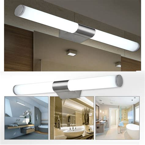 modern bathroom mirror light led tube wall