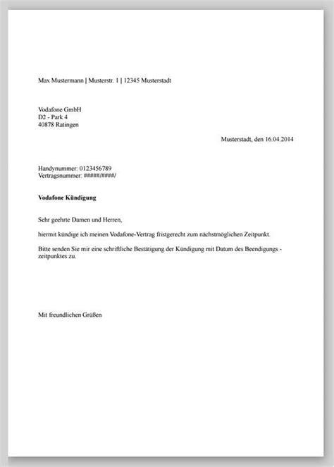kündigung eines mietvertrages vorlage k 252 ndigung vertrag vorlage o2 k 252 ndigung k 252 ndigung vertrag und vorlagen