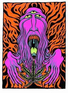 Original Limited Edition Psychedelic Weed Goblin Silkscreen