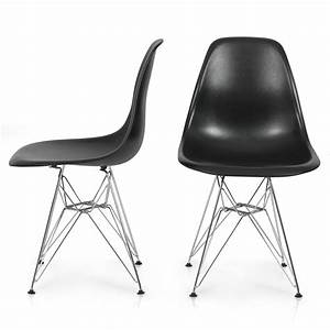 Eames Plastic Side Chair : 2x eames style dsw modern eiffel side chair molded abs plastic chairs wire base ebay ~ Bigdaddyawards.com Haus und Dekorationen