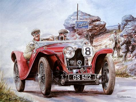 Riley Vintage Car, Vintage Car Racing Scene 7