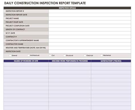 construction subcontractor daily report template construction daily reports templates or software smartsheet