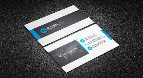 Free Clean Corporate Professional Business Card Template