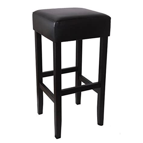 woltu lot de 4 tabourets de bar avec pieds en bois massif si 232 ge en simili cuir noir bh22sz 4