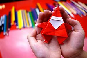 how to fold an origami santa claus for hub