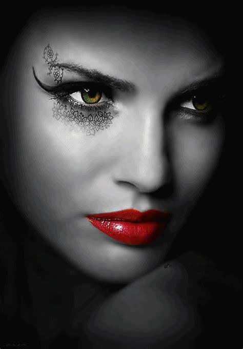 red lips good face color splash black white red