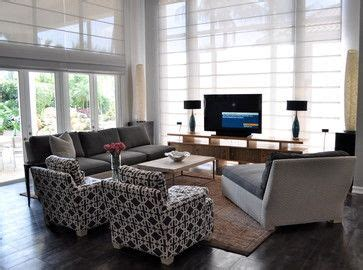 Living Room Design Tv In Front Of Window by Tv Against Window And Against Wall Or Against