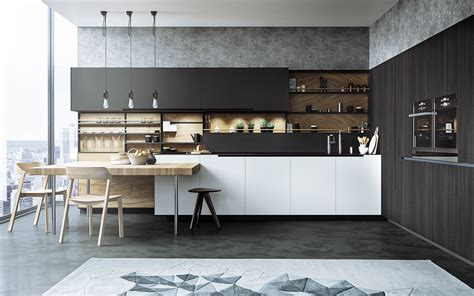 cuisine gris mat black white wood kitchens ideas inspiration