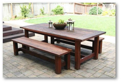 kitchen picnic table plans farmhouse picnic table plan patio dining table project
