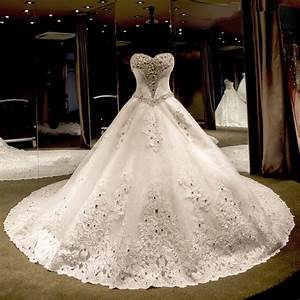 Luxury wedding dresses 2016 sweetheart beaded pearls for Wedding dress sashes with crystals