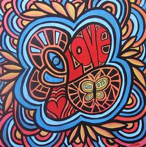Hippie Love Painting by Jo Claire Hall