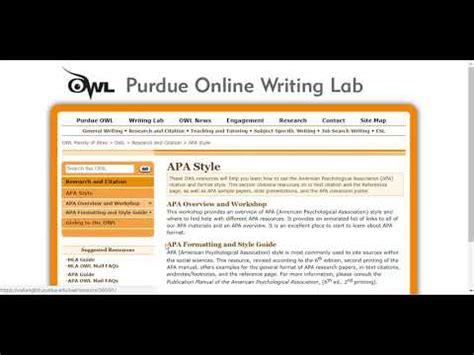 1280 x 720 jpeg 86 кб. Purdue Owl resource for APA - YouTube