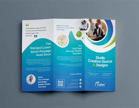 Brochure 4 Fold Hypnosis Professional Tri Fold Brochure Template 001203