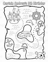 Treasure Pirate Map Printable Maps Coloring Activity Pdf Pirates Activities sketch template