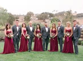bridesmaid dresses in burgundy best 25 burgundy bridesmaid dresses ideas on burgundy bridesmaid merlot wedding