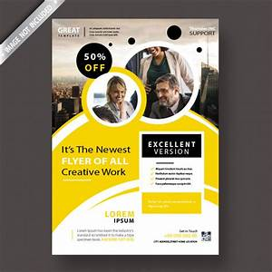 Yellow Corporate Flyer Template Psd File