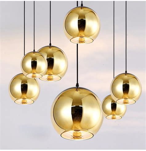 Tom Dison Globe Glass Pendant Lamp Silver Gold Copper