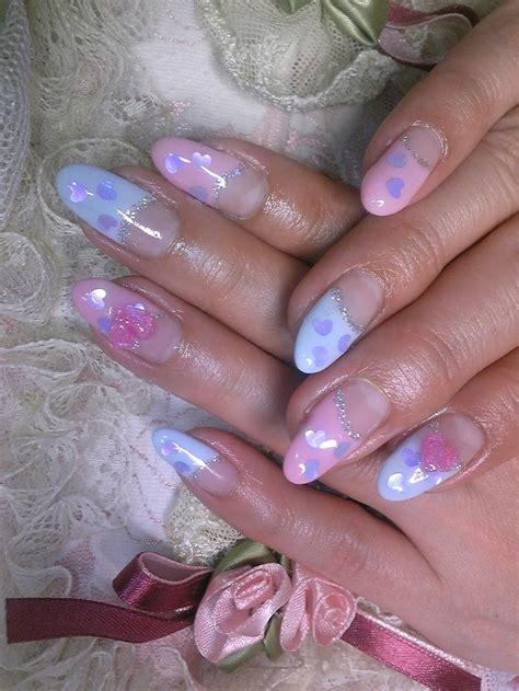nail art colored gel french nail