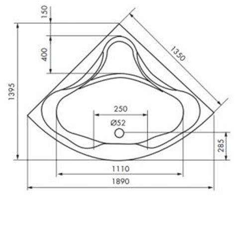 dimension baignoire standard dimension baignoire angle