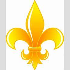 Shiny Golden Fleur De Lis  Free Clip Art