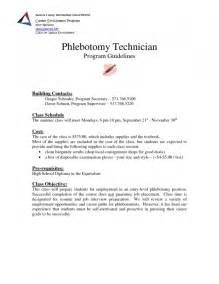 entry level phlebotomy resume resume template exle resume template format