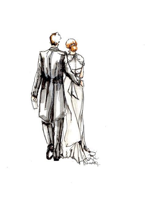 bride  groom sketch creatively doodle wedding