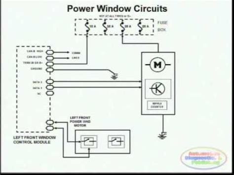 power window wiring diagram  youtube