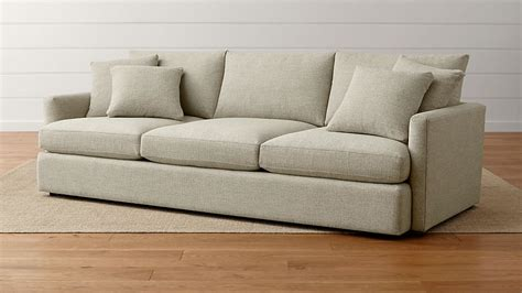 crate and barrel settee lounge ii 3 seat 105 quot grande sofa taft cement crate and